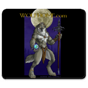 This mousepad shows the opening page of Wolfhome.com with the Guardian ready to challenge any who dare enter! This pad is a perfect way for you to help support Wolfhome.com and looks cool on your destktop too!