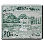 I am unable to find any information about this stamp from Pakistan. These shirts have a lightly distressed look for an aged appearance.