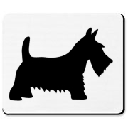 Black Scottish Terrier Dog Mousepad