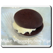 Surf the 'Net with this cute, fun mousepad with the saying Make Whoopie, Not War