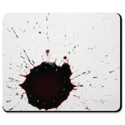 This mousepad will turn heads. Image made with real blood!