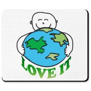 Earth day tee shirts, clothes and gifts with picture of a person hugging the planet earth. Love the earth merchandise for Earth day and everyday.