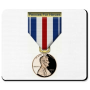 Pennies For Heroes Medal Mousepad