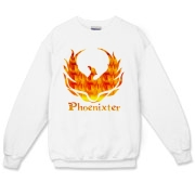 The fiery Phoenixter logo on the front.