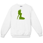 Pin Up Tiger Crewneck Sweatshirt