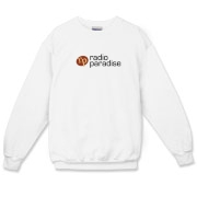 Crewneck Sweatshirt - Logo front, White or Gray