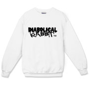 Diabolical Rabbit Graffiti Crewneck Sweater for men and women