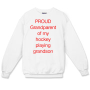 Proud of hockey grandson Crewneck Sweatshirt