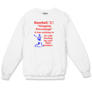 Slugging Percentage Crewneck Sweatshirt