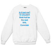 Brett Hull for Commish Crewneck Sweatshirt