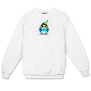 Party Senior penguin is an original penguin cartoon by JGoode. Party Senior t-shirts for penguin lovers.