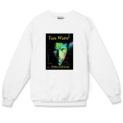 Tom Waits t-shirts from the Intelligent Designer. Tom Waits Glitter and Doom Tour in 2008. Does it get any better than this? Nah.