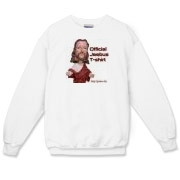 This crewneck Jeebus sweathshirt is made of virgin cotton, it will attract virgins when you wear it
