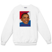Be part of the 2009 presidential inauguration by owning a crewneck sweatshirt featuring Barack Obama and the date of the inauguration.
