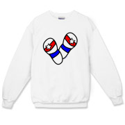 Patriotic t-shirts, sweatshirts and giftware with picture of beach flip flops in red, white and blue and stars and stripes design. Lesruba Designs <a href=http://www.lesrubadesigns.com/fourth_of_july.htm>USA gear</a>.