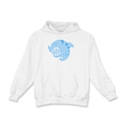 Shark Ball Blue Kids Hooded Sweatshirt
