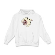 Shark Ball White Kids Hooded Sweatshirt