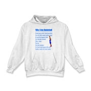 Why I Love Basketball Kids Hooded Sweatshirt
