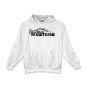 Warm Kids Hoodie features our popular Prestige Mustang Fade Logo design on the front