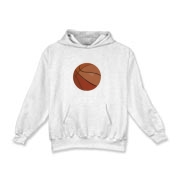 This Kids Basketball Hooded Sweatshirt is featured on this shirt.