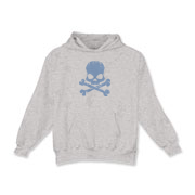 Blue Skull Kids Hooded Sweatshirt