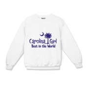 Our Carolina Girl Best in the World in purple on light shirts. Carolina Girls are truly the best in the world. Best in the world Carolina Girl Shirts and Apparel for everyone.