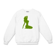 Pin Up Tiger Kids Crewneck Sweatshirt