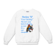 Cross Checking Kids Crewneck Sweatshirt
