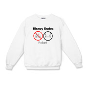 Disney Dudes Podcast Warning Kids Crewneck Sweatsh