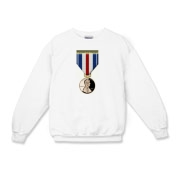 Pennies For Heroes Medal Kids Crewneck Sweatshirt
