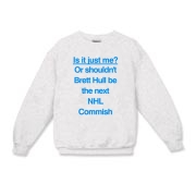 Brett Hull for Commish Kids Crewneck Sweatshirt