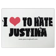 I Love To Hate Justina Cutting Board