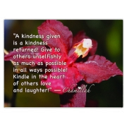 Remind others with this item that when a kindness is given it is returned!