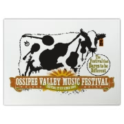 The Ossipee Valley Music Festival Acoustic Cow Cutting Board