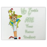 My Zombie Ate Your Accessories Cutting Board