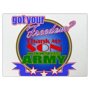 If your son is or has proudly served this country in the Army, let everyone know that they should thank him for their freedom!