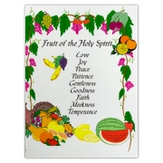 Fruit of the Holy Spirit Large Cutting Board