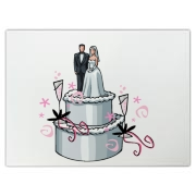 Wedding cake topper design is perfect on wedding personalized tote bags, t-shirts and sweat shirts! Now the bride and groom, wedding attendants from the maid and matron of honor, bridesmaids and flower girl to the best man and groomsman share the cake!