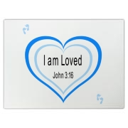 Heart with YOU are Loved, John 3:16 on it.