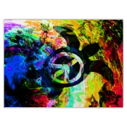 Psychedelic Peace Turtle Large Cutting Board