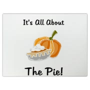 Pumpkin Pie for Thanksgiving gift ideas, signs, banners, clocks, cutting boards, home decor and decorations for Thanksgiving Day at:
