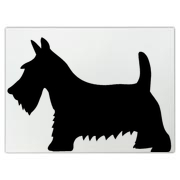 Black Scottish Terrier Dog Large Cutting Board