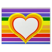 Rainbow Colors & Heart