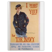 I Want You...for the Navy Large Cutting Board