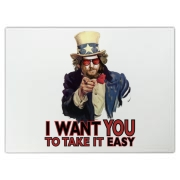 Make ease, not war! The traditional U.S. Army recruiting poster gets a pacifistic and easygoing new twist with a Dudeist message