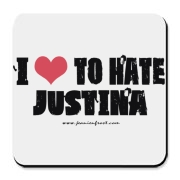 I Love To Hate Justina Cork Bottom Coaster