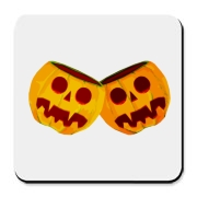 Just in time for Halloween comes a way to show off your chest pumpkins. Two creepy jack o' lanterns will grin from your t-shirt at Halloween parties or trick or treating.