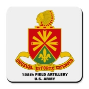 158th Artillery, MLRS - Cork Bottom Coaster: Tempered, scratch resistant and virtually indestructible.