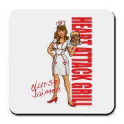 Nurse Jaimee Cork Bottom Coaster