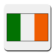 Design features a large image of the Flag of Ireland or Irish Flag.